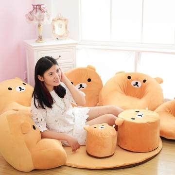 安吉宝贝可爱懒人沙发儿童沙发幼儿园摆件八件套