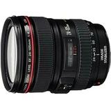 佳能(Canon) EF 24-105mm f/4L IS USM标准变焦镜头红圈镜头(黑色 官方标配)