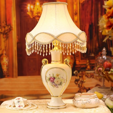 梵莎奇 欧式家居客厅床头陶瓷台灯奢华卧室灯饰灯具