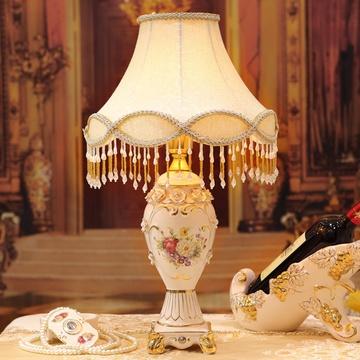 梵莎奇欧式台灯 奢华简约现代家居客厅卧室床头陶瓷台灯 结婚礼品