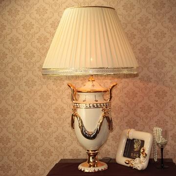 欧式台灯 陶瓷 卧室 床头灯