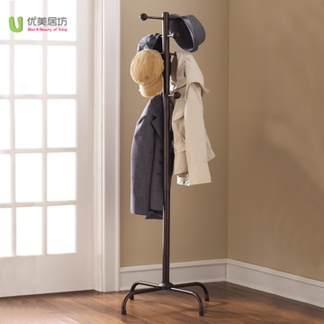 优美居坊欧式落地衣帽架简约现代创意卧室门厅时尚金属挂衣架 宜家