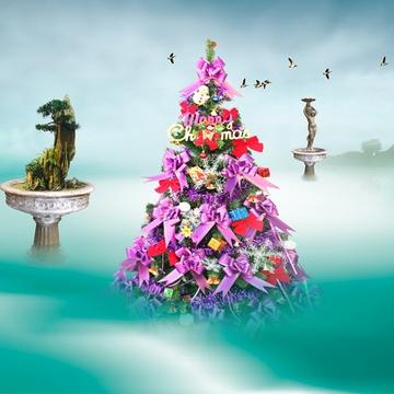5米圣诞树套餐欧式风格 酒店装饰套餐圣诞