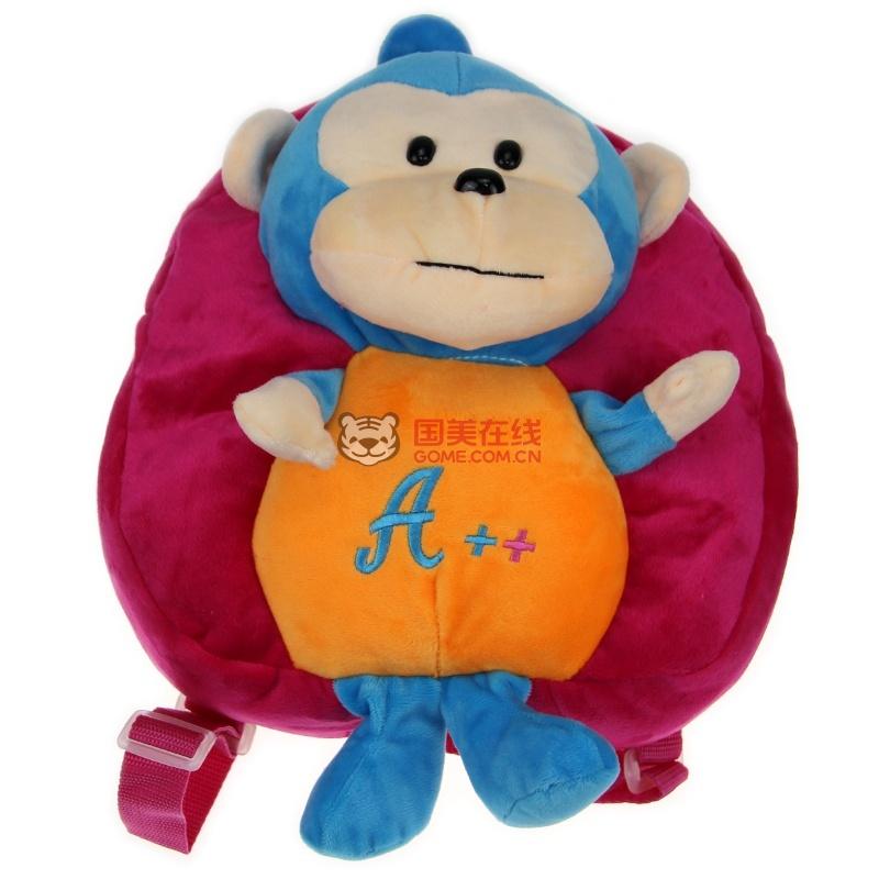 可爱卡通猴子小书包 幼儿园大中小班小书包背包