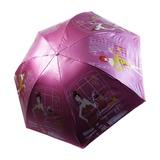 天堂伞三折轻巧防紫外线雨伞遮阳伞太阳伞都市淑女黑涤彩胶人物晴雨伞3308E秀出时尚(粉色)