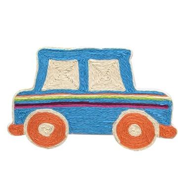 手工diy制作材料包纸绳画幼儿园学校手工立体贴画 ef30004(小汽车)