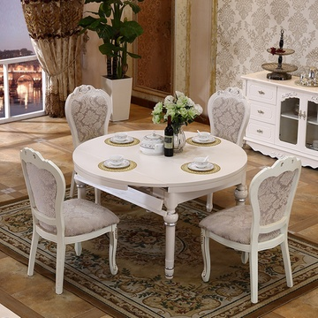 小户型饭厅实木烤漆描银雕花