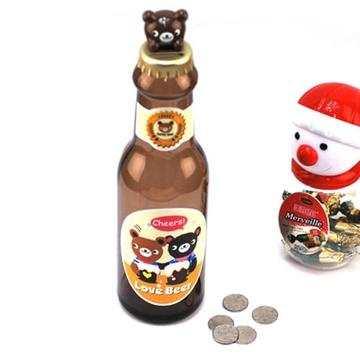 卡通啤酒瓶存钱罐