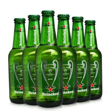 荷兰进口喜力啤酒 赫尼根啤酒 皮尔森啤酒 欧冠纪念版啤酒330ml*6瓶