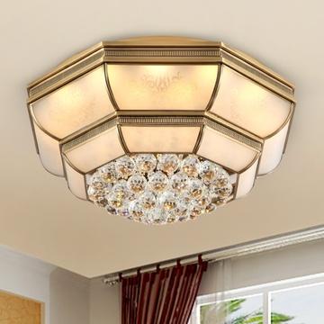 美式铜灯水晶灯 欧式客厅灯