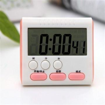 大屏厨房定时器 提醒器 正倒计时闹钟 电子数显大屏 hx102(粉色)