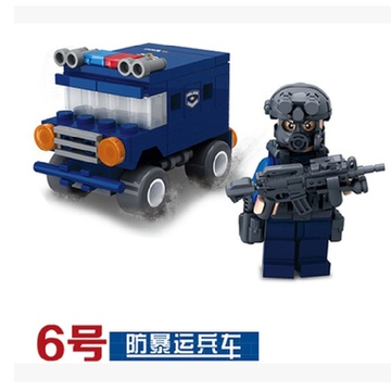 人仔武器城市警察系列積木兒童玩具生日禮物樂高式圖片