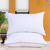酒店专用红边枕芯 高回弹枕芯 单人枕头健康枕(红边磨毛一只 48*74cm)