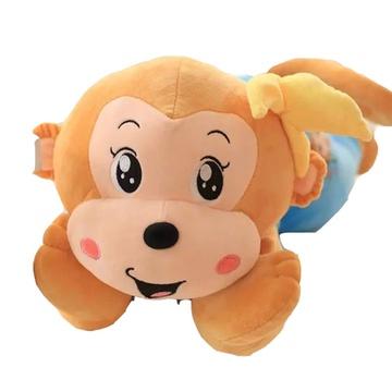 卡通可爱猴子 毛绒玩具 趴趴猴创意玩具 生日礼物 情人节礼物(蓝色 80