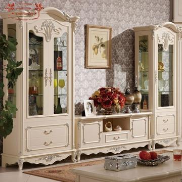 欧式实木酒柜电视柜客厅装饰柜单门双门酒柜装饰柜电视机柜(双门酒柜
