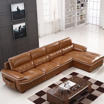 艾瑞玛 皮沙发 现代时尚客厅组合沙发 转脚储物小户型