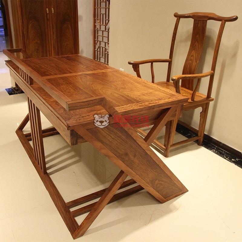 6米红木书桌实木办公桌简约现代时尚老板桌