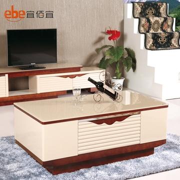 实木框电视柜茶几组合套装