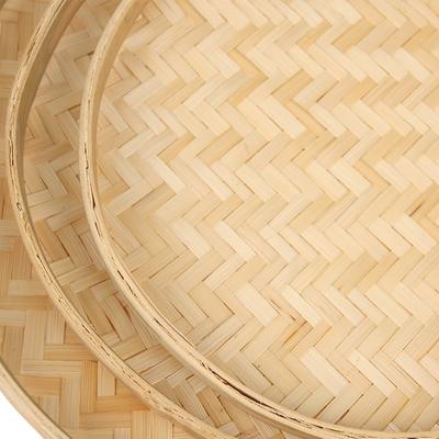 儿童手工艺竹编簸箕幼儿园装饰绘图摆件手工编织簸箕ef25652(小号)