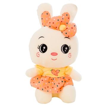 粉色穿裙子 可爱小白兔子 大号 毛绒玩具 米菲兔 公仔