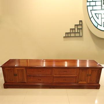 红木家具2米红木电视柜实木影视柜地柜厅柜缅甸花梨