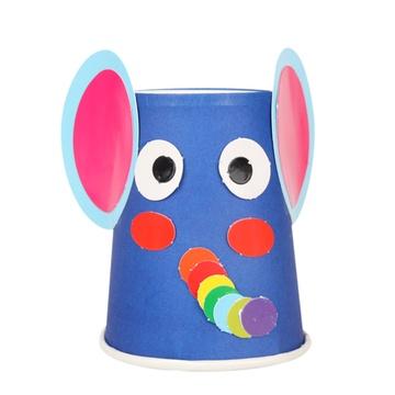 动物纸杯材料包批发幼儿园手工挂件吊饰diy儿童创意