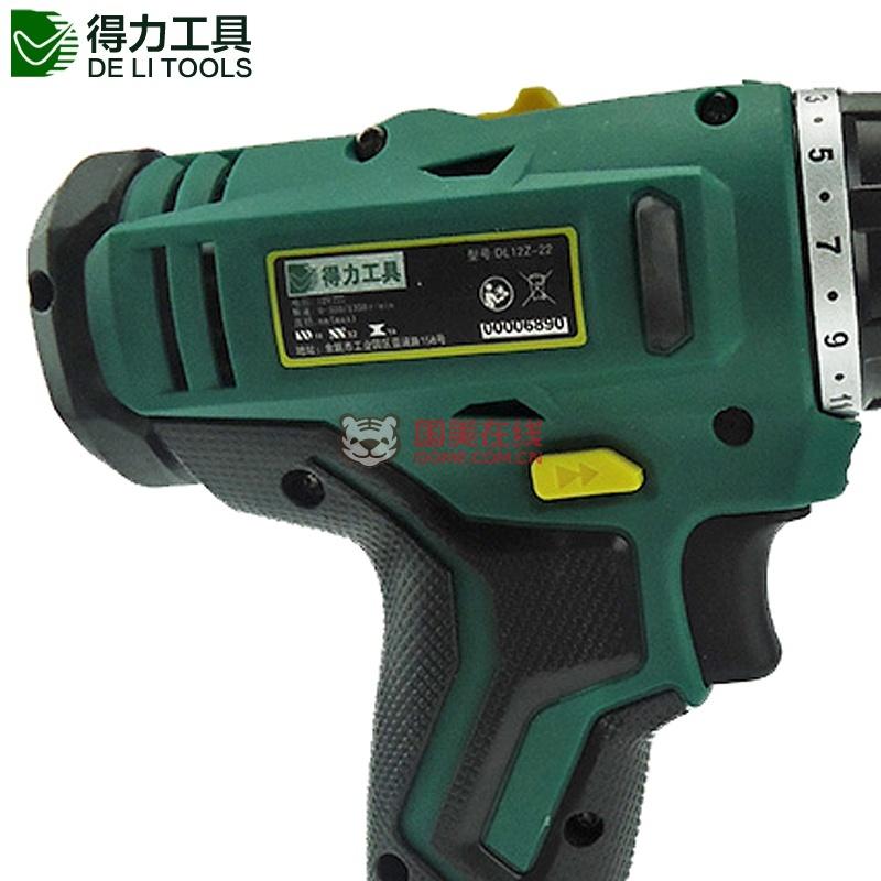 得力工具手电钻12v充电式锂电钻电动螺丝刀