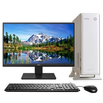 台式电脑整机 办公家用娱乐 迷你电脑(白色 4g内存/60g固态ssd)