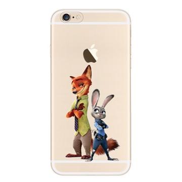 疯狂动物城苹果iphone6手机壳朱迪尼克兔子狐狸6s