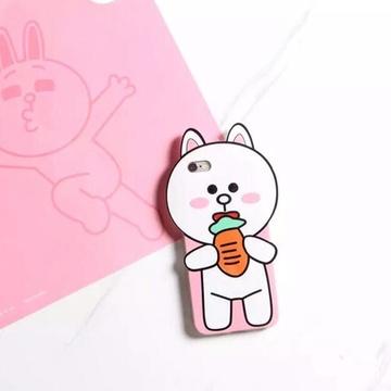 亿和源iphone6可爱卡通动物手机套苹果6plus包边防摔手机壳(萝卜兔--5