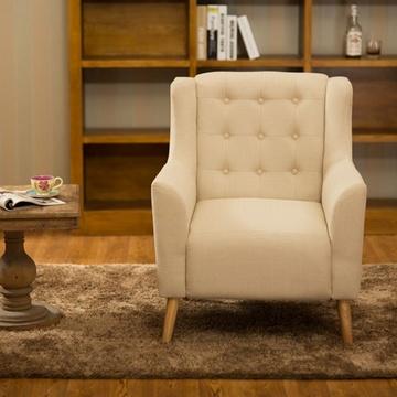 万诚家具美式单人沙发椅欧式北欧沙发卧室阳台咖啡厅
