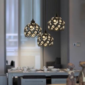 紫盛阁餐厅灯吊灯创意个性北欧客厅灯三头现代欧式卧室灯吧台灯简约灯