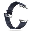 AppleWatch表带牛皮商务男苹果iwatch智能手表带运动(宝蓝色 42mm)