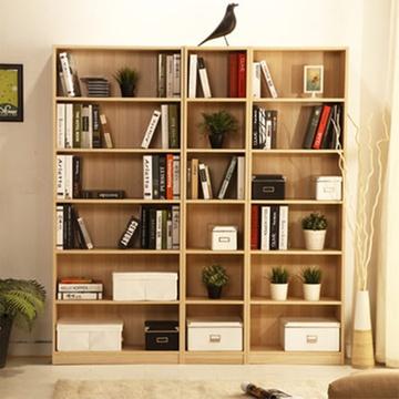 芬格美家北欧风格书柜书架自由组合简约现代带门简易置物架2米(清新原