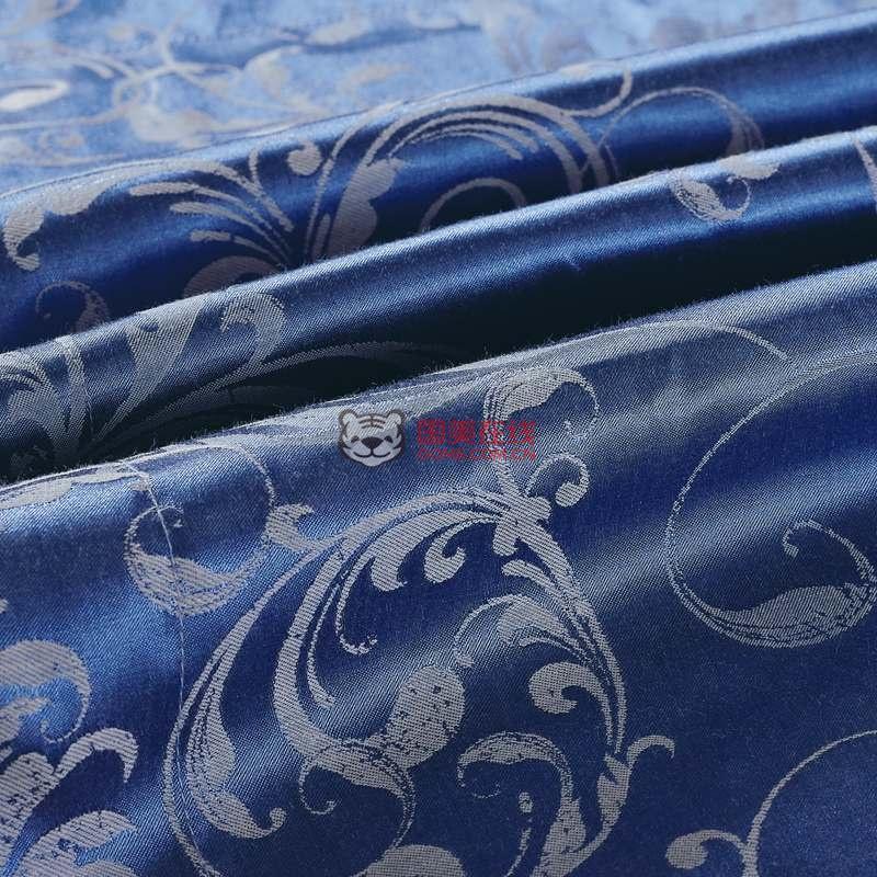 逸驰家纺费列罗仿丝棉欧式大提花四件套(蓝色)图片