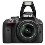 尼康(Nikon) D3300 单反套机(AF-S DX 18-55mm f/3.5-5.6G VRII尼克尔镜头)黑色