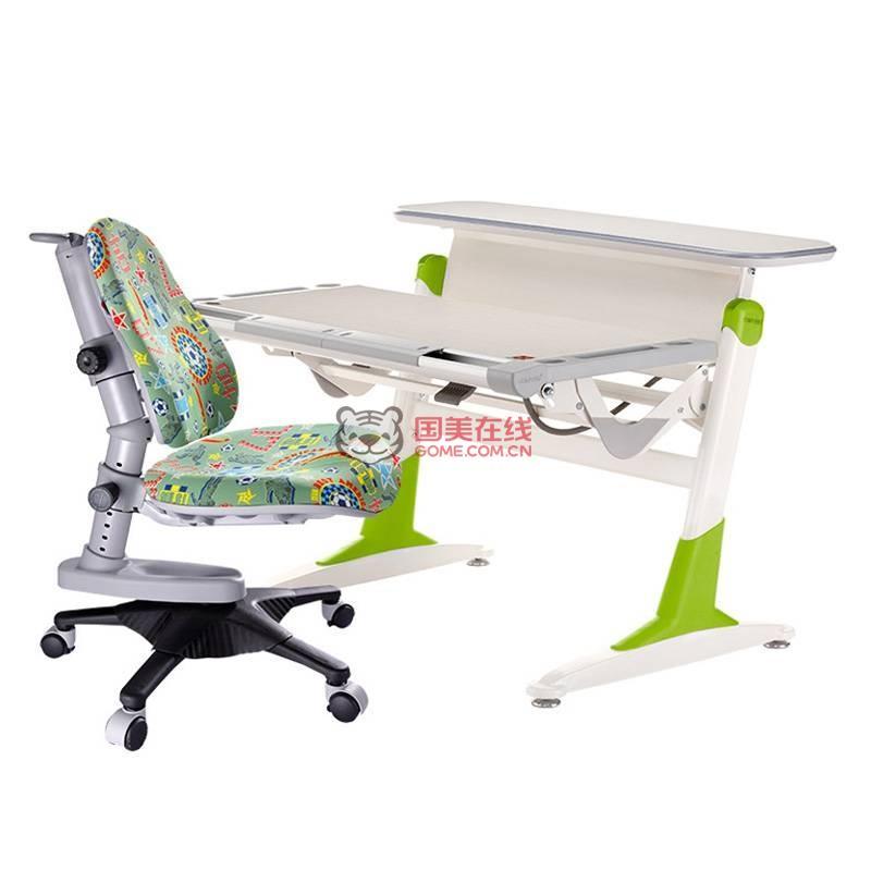 康朴乐贵族书桌加牛顿椅超值套餐(柚木绿TH333+足球面Y818)