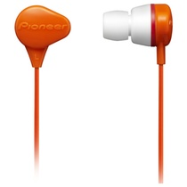 先锋(Pioneer)SE-CL331-G 耳机 入耳式耳机 立体声耳机 橙色(具有很强的防水性能,佩戴时既舒适也牢靠,音质也颇有特点)