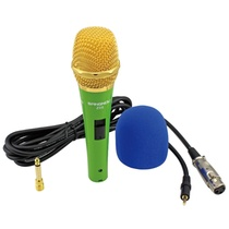 双诺 Z05专业电容有线麦克风(绿色)(送6.5mm接口转换头)专业电容式!有线麦克风!挑战专业歌手!网络畅聊、视频会议、主持、促销等多场景无与伦比的声音优势~~