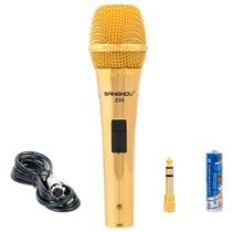 双诺 Z05专业电容有线麦克风(金色)(送6.5mm接口转换头)专业电容式!有线麦克风!挑战专业歌手!网络畅聊、视频会议、主持、促销等多场景无与伦比的声音优势~~