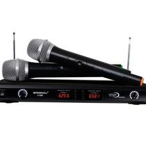 双诺 C08无线麦克风(液晶屏显示)双通道无线手持话筒 双手麦 KTV、舞台无线话筒