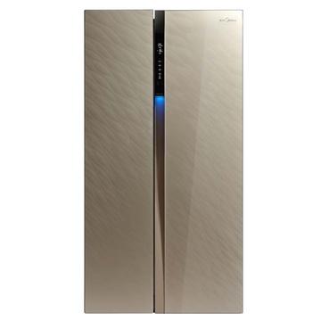 美的(Midea) BCD-565WKGM  565升L 对开门冰箱 (流纱金)  温馨体感问候灯